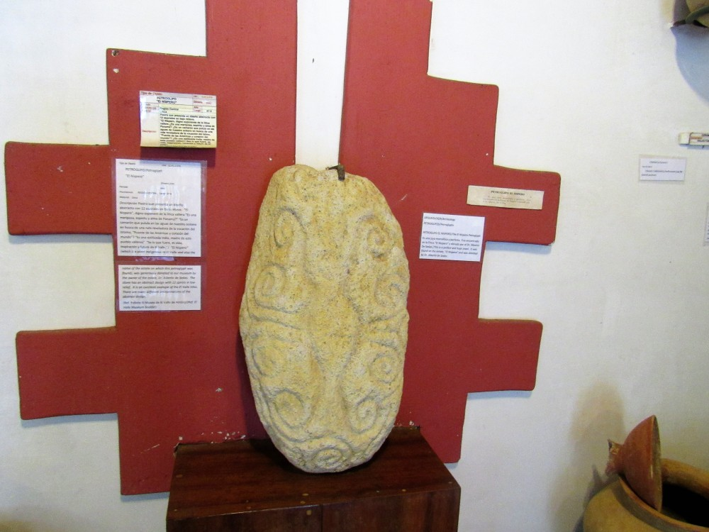 El pPetroglifo El Níspero es la pieza más valiosa del Museo