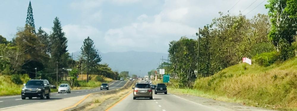 Carretera Panamericana via a el Valle de Anton
