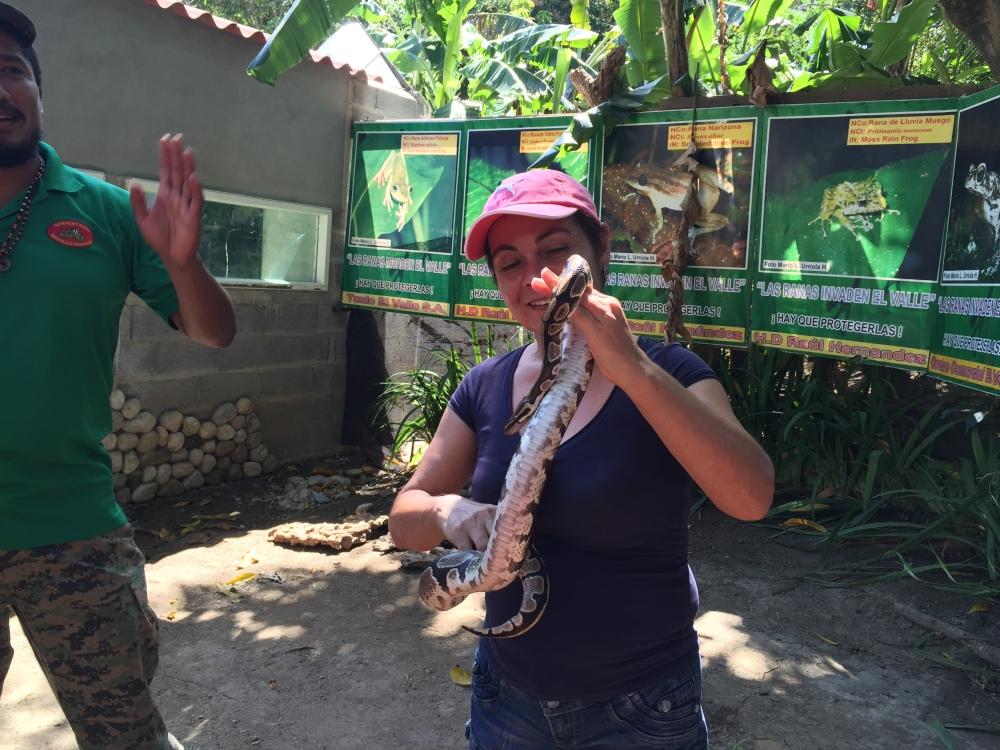 en visita al Serpentario