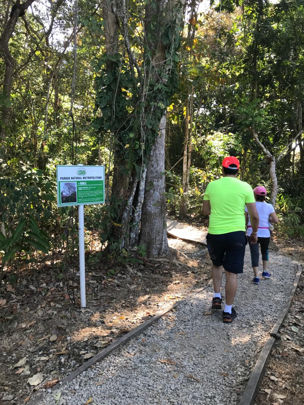 el parque ofrece varios senderos cada uno con dificulta media