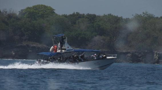 Nos trasladamos en lancha hacia la Islas del Rosario